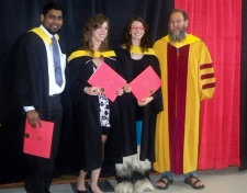 Lab Graduates – 2010 June 8. Abdool Yasseen (MSc), Lindsay Jackson Derraugh (BScHon), Krystle Olson (MSc) (photo: Madiha Khan)