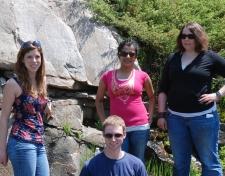 Lab group at habitat of Opuntia fragilis. 2011 May 30