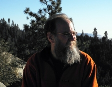 Looking at giant sequoias – 2012 Jan 1. Kings Canyon N.P. (photo: Sue Bertram)